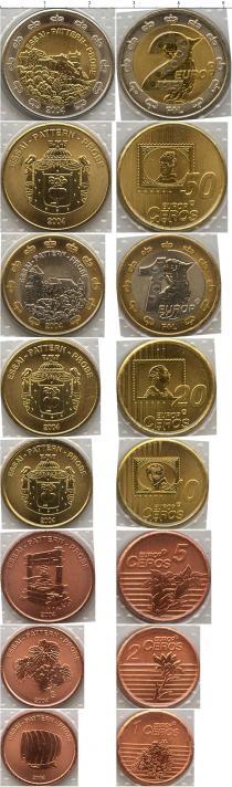 Каталог - подарочный набор  Лихтенштейн Пробный евро-набор 2004