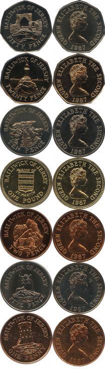 Каталог - подарочный набор  Остров Джерси Выпуск 1987 года