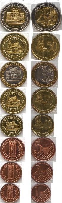 Каталог - подарочный набор  Словакия Пробный евро-набор 2004