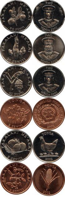 Каталог - подарочный набор  Тонга Набор 2002 года