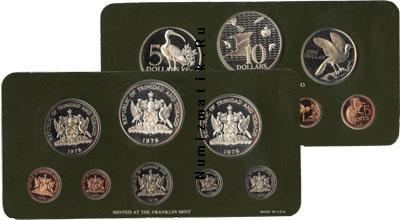 Каталог - подарочный набор  Тринидад и Тобаго Выпуск памятных монет 1976 года