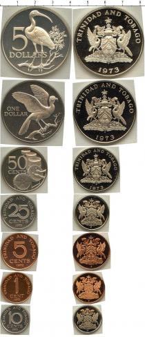 Каталог - подарочный набор  Тринидад и Тобаго Набор памятных монет 1973 года