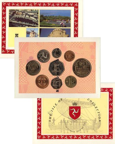 Каталог - подарочный набор  Остров Мэн Выпуск монет 1992 года