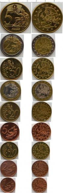 Каталог - подарочный набор  Франция Набор евромонет