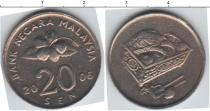 Каталог монет - монета  Малайзия 20,сен