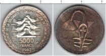 Каталог монет - монета  Французская Африка 5000 франков