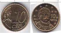 Продать Монеты Греция 10 евроцентов 2011 Медно-никель