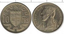 Каталог монет - монета  Реюньон 10 франков