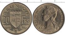 Каталог монет - монета  Реюньон 20 франков