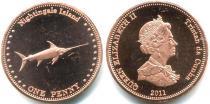 Каталог монет - монета  Соловьиные острова 1 пенни