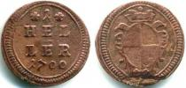 Каталог монет - монета  Бранденбург-Ансбах 1 хеллер