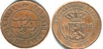 Каталог монет - монета  Нидерландская Индия 2 1/2 цента