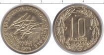 Каталог монет - монета  КФА 10 франков