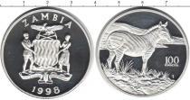 Каталог монет - монета  Замбия 100 квач