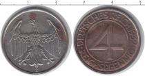 Каталог монет - монета  Веймарская республика 4 пфеннига