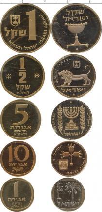 Каталог - подарочный набор  Израиль Выпуск монет 1981 года