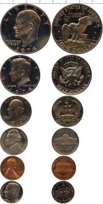 Каталог - подарочный набор  США Выпуск монет 1974 года