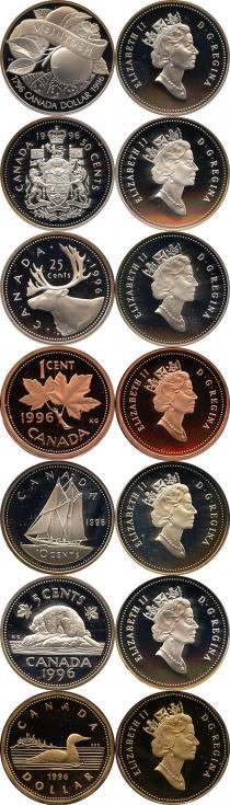 Каталог - подарочный набор  Канада Набор монет 1996 года