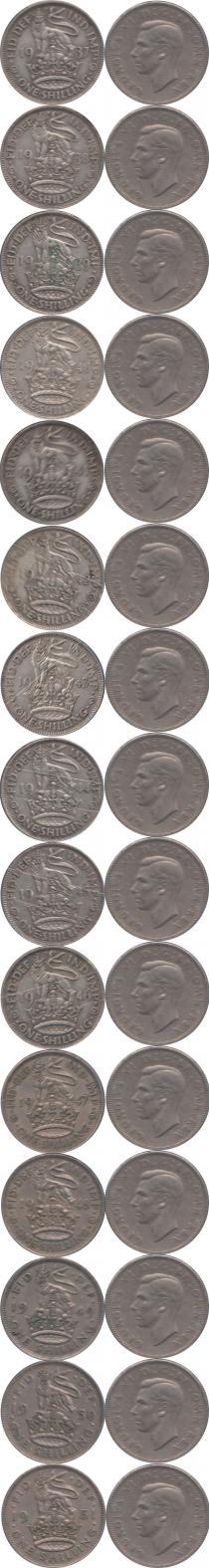 Каталог - подарочный набор  Великобритания Королевский шиллинг Георга