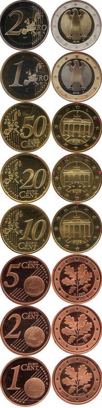 Каталог - подарочный набор  Германия Выпуск 2002 года, Чеканка Мюнхена