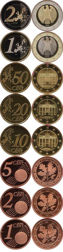 Каталог - подарочный набор  Германия Выпуск 2002 года, Чеканка Берлина