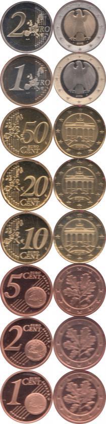 Каталог - подарочный набор  Германия Выпуск 2002 года, Чеканка Гамбурга