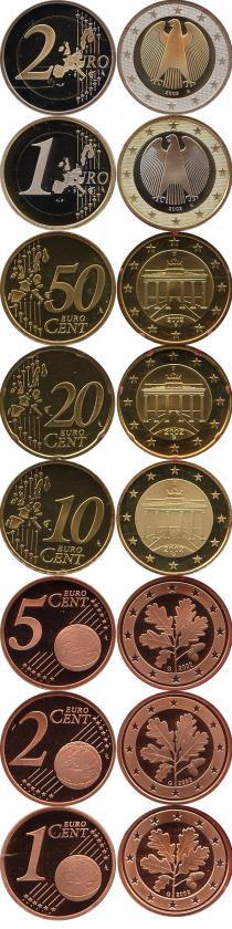 Каталог - подарочный набор  Германия Выпуск 2002 года, Чеканка Карлсруэ