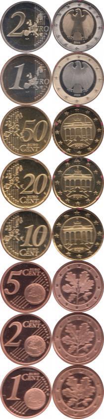 Каталог - подарочный набор  Германия Выпуск 2002 года, Чеканка Штуттгарта