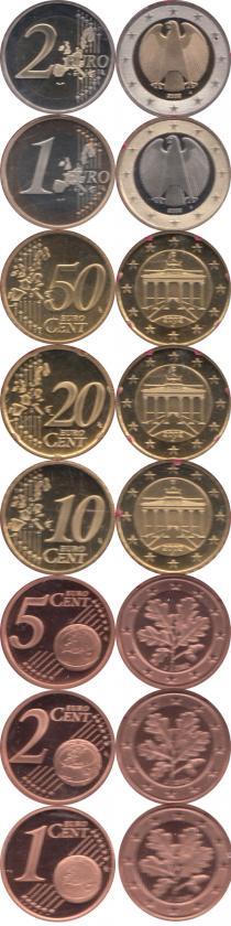 Каталог - подарочный набор  Германия Евронабор 2002, Чеканка Гамбурга