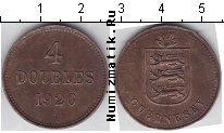 Каталог монет - монета  Гернси 4 дубля