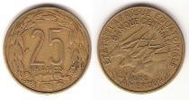 Каталог монет - монета  Экваториальной Африки и Камеруна Валютный Союз 25 франков