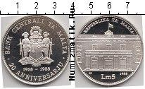 Каталог монет - монета  Мальта 5 лир
