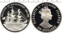 Каталог монет - монета  Острова Питкэрн 50 долларов