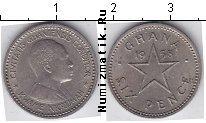 Каталог монет - монета  Гана 6 пенсов