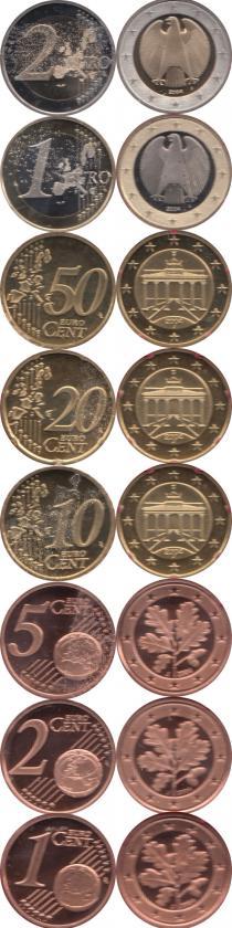 Каталог - подарочный набор  Германия Выпуск 2004 года, Чеканка Гамбурга