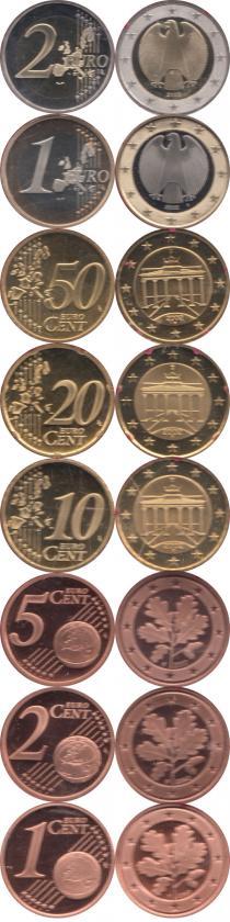 Каталог - подарочный набор  Германия Евронабор 2002, Чеканка Штуттгарт