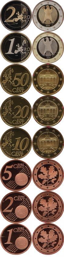 Каталог - подарочный набор  Германия Выпуск 2004 года, Чеканка Штуттгарта