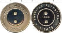 Продать Подарочные монеты Латвия Миллениум 1999 Серебро
