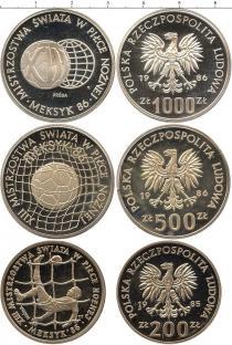 Каталог - подарочный набор  Польша Чемпионат мира по футболу 1986