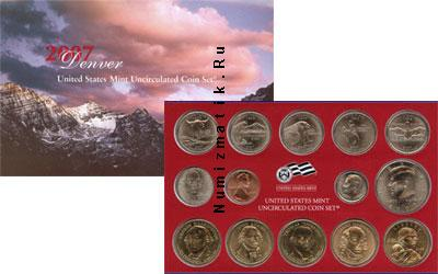 Каталог - подарочный набор  США Выпуск 2007 года