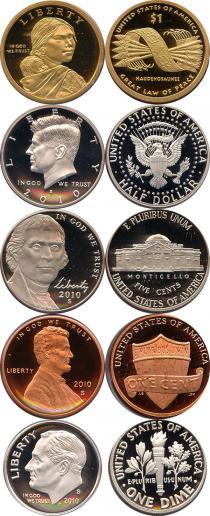 Каталог - подарочный набор  США Выпуск монет 2010 года