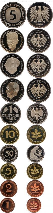 Каталог - подарочный набор  ФРГ Монеты 1985 (чеканка Гамбург)