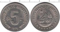 Каталог монет - монета  Боливия 5 песо
