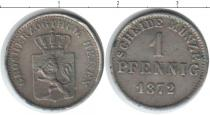 Каталог монет - монета  Гессен 1 пфенниг
