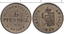 Каталог монет - монета  Анхальт 6 пфеннигов