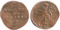 Каталог монет - монета  Рейсс-Оберграйц 1 хеллер