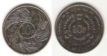Каталог монет - монета  Бурунди 10 франков