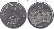 Продать Монеты Замбия 1 доллар 2002 Медно-никель