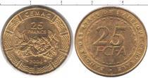Каталог монет - монета  КФА 25 франков