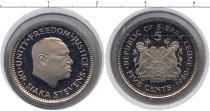 Каталог монет - монета  Сьерра-Леоне 5 центов